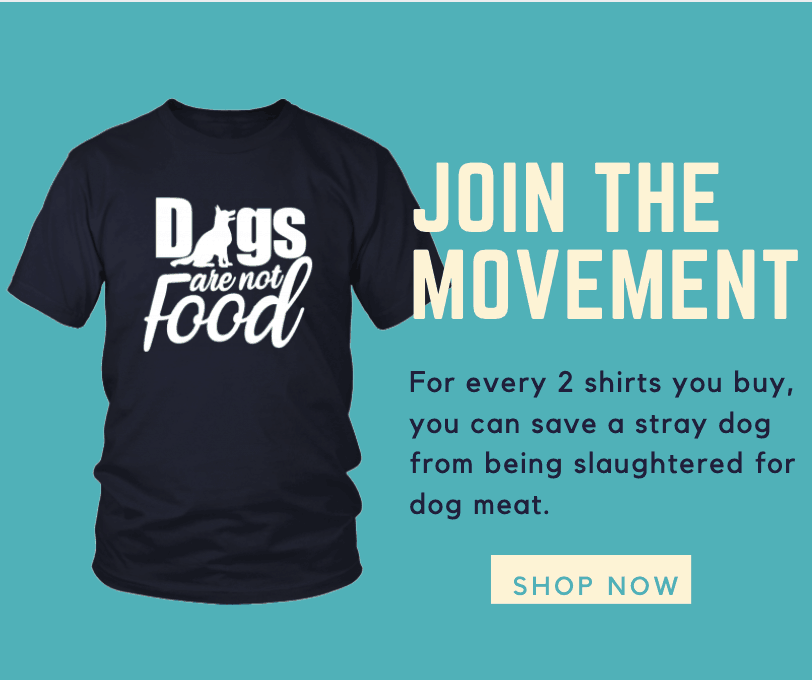 anti dog meat t-shirt
